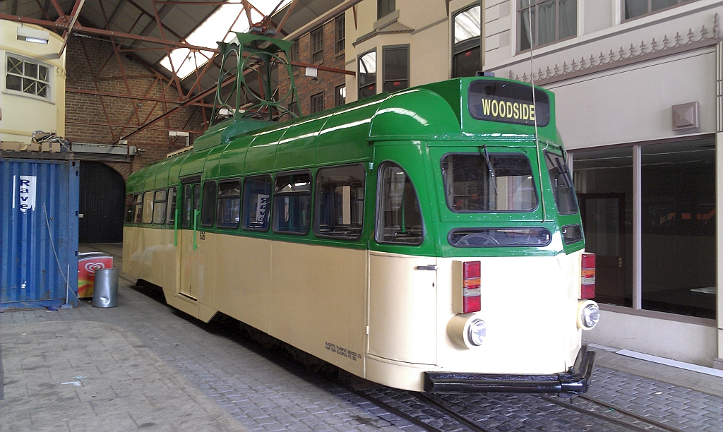 The final view of 626 shows the tram safely tucked up back inside the comfort of the depot where it has spent most of its 2 years at Birkenhead. (Photo by John Hewitt)