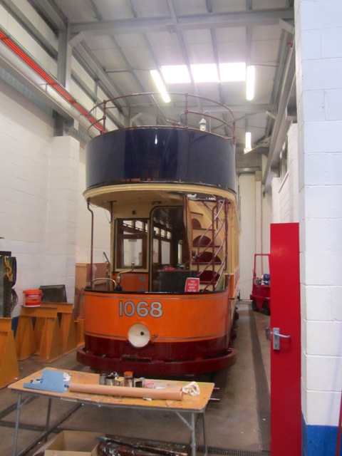 Another of the stars of the event will be Glasgow 1068 which is nearing the completion of a repaint into Glasgow livery from its normal identity of Paisley 68. (Photo: Jack Gordon/Tramways Monthly)