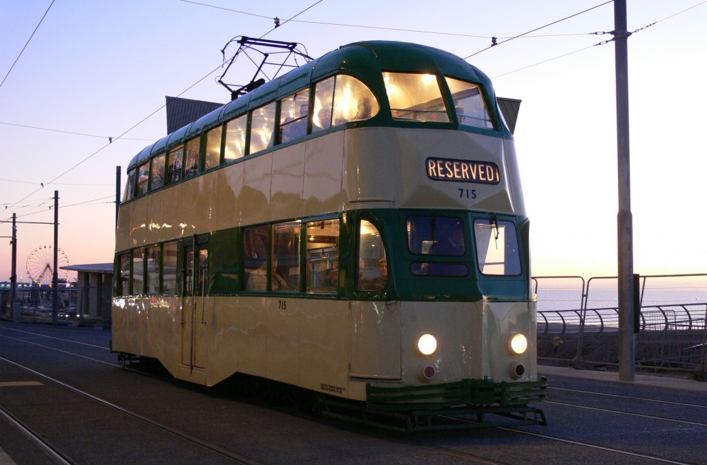 Seen in happier times, here is a look at Balloon 715 at North Pier on its last day of passenger use in Blackpool, Sunday 6th November 2011. Here the sun is fading on not only the 2011 season, but also 715's lengthy operating career. (Photo by Andrew Waddington)