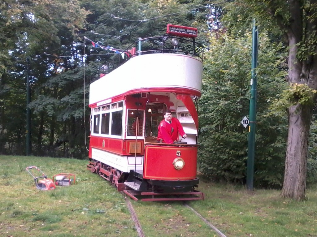 Stockport 5 will take centre stage again as Heaton Park's 'Halloween Tram' on October 28th - but here the tram is seen in more familiar form at Lakeside on 25th October. (Photo by Joe Savage)