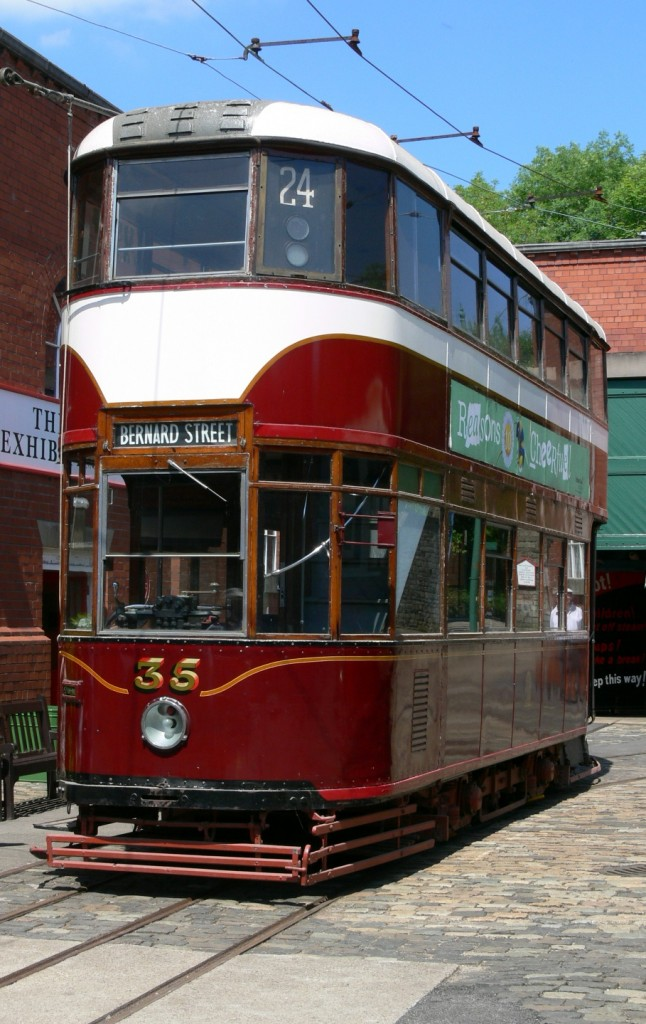 One of Edinburgh 35's last outdoor appearances in its current condition was during the 'Capital Weekend' in July 2013, when the car was photographed in the depot yard in glorious sunshine. (Photo by Andrew Waddington)