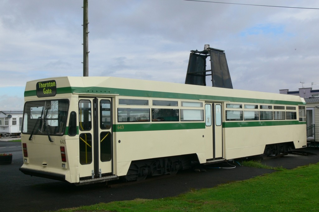 Centenary car 643 in the car park at Broadwater Caravan Park last September, showing off its recently applied paintwork. Never would we have imagined that so soon afterwards, this sight would be consigned to the history books. (Photo by Andrew Waddington)