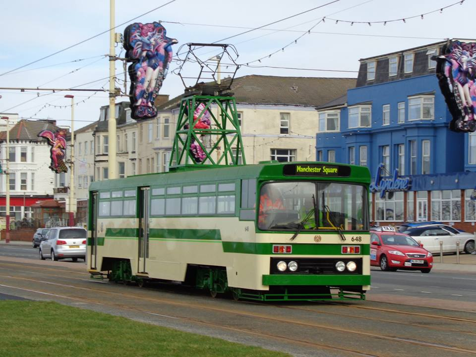 Centenary car 648 has been quite an elusive tram since its latest repaint in 1980s style livery, but here it is seen on the promenade for the first time this year, on 28th February.