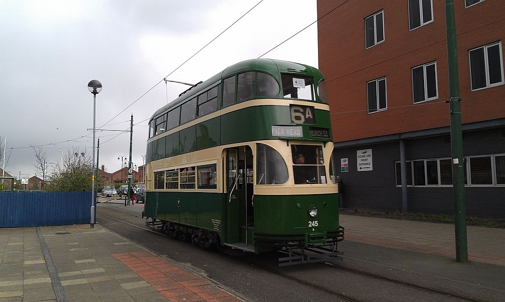 245 in action on one of its first ever runs along the Wirral tramway, and indeed this was also its longest move under power for more than fifty years!