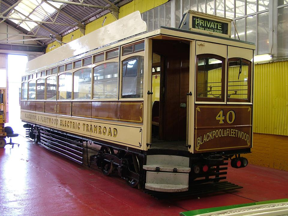 The star of Tram Sunday 2014 is expected to be Box car 40, making what may well be its only appearance in service at Blackpool during its centenary year. Here the tram is pictured in the Paint Shop as its current overhaul work nears completion. (Photo courtesy of Blackpool Heritage Tram Tours Facebook page)