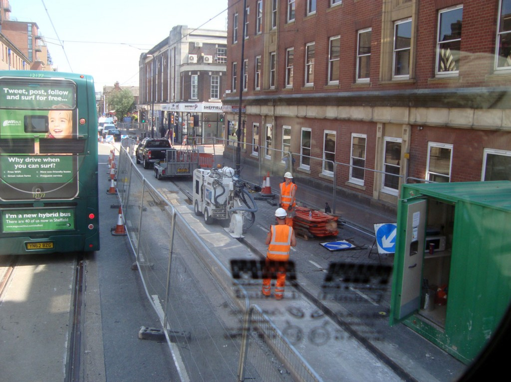 Three view of the progress on West Street taken from the top deck of a bus. (All Photos: Stuart Cooke)