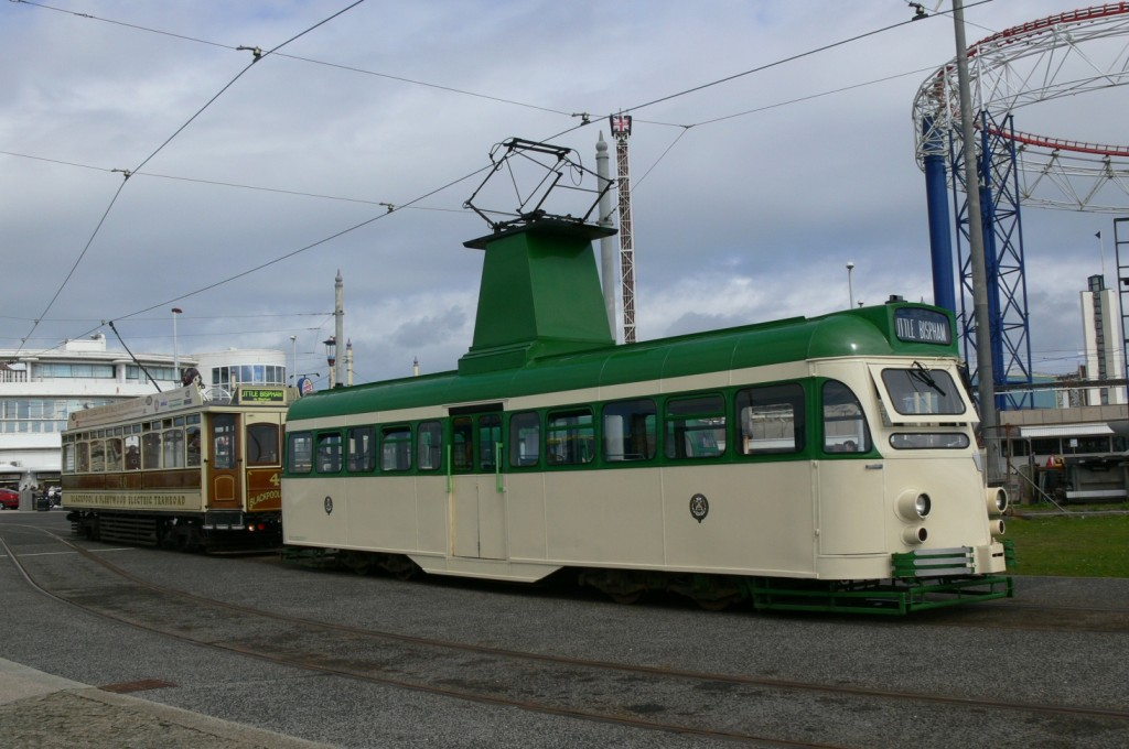 Brush car 631 ran on all three days of the weekend, and is seen here at Pleasure Beach along with an even older stalwart of the North Station to Fleetwood route, Box car 40. (Photos x 2 by Andrew Waddington)
