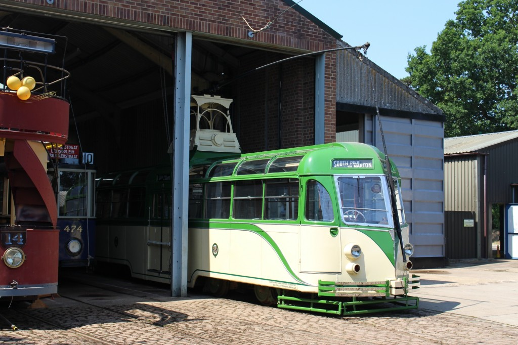 Alongside 14, Blackpool 11 was also on display - this being the last newly restored tram to be launched into service at the museum a decade ago, although it is currently off the road with some electrical defects.