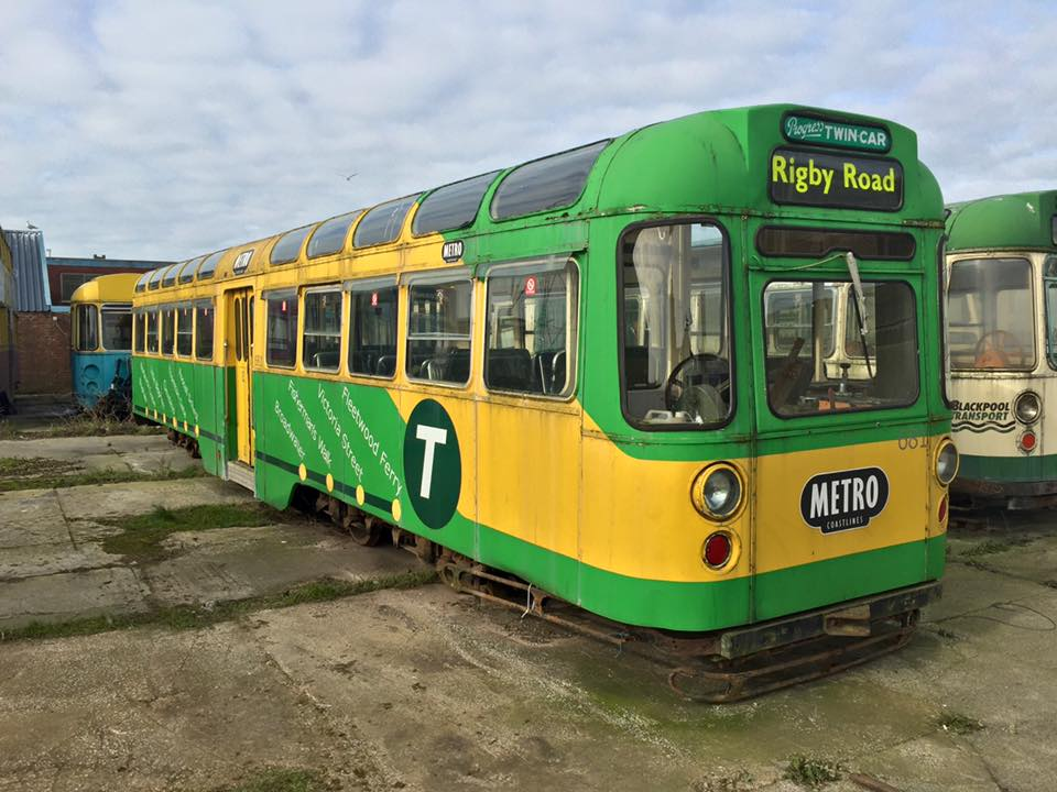 Despite a lengthy period of being stored outside - first at Knowsley and latterly in Fleetwood - 681 looks in remarkably good condition, as this picture suggests. The interior has also stood up well against the odds which must boost its chances of an early return to service.