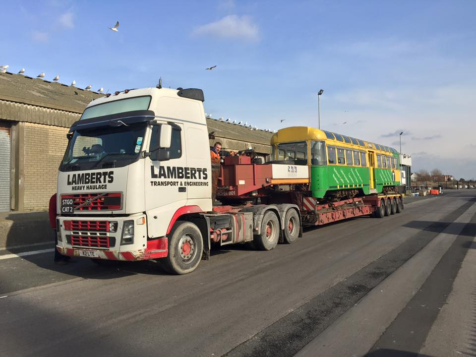 681 loaded up and ready to leave Fleetwood and enter a new, and hopefully more prosperous, stage in its career.