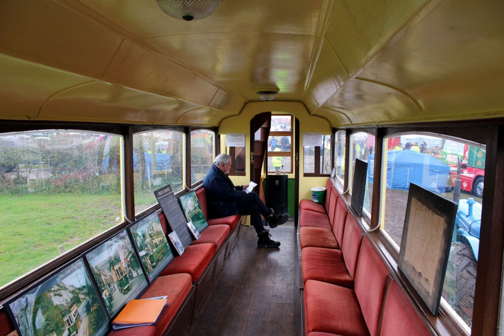 An internal view of 7 with John Bird of the Llandudno & Colwyn Bay Electric Railway Society on duty.