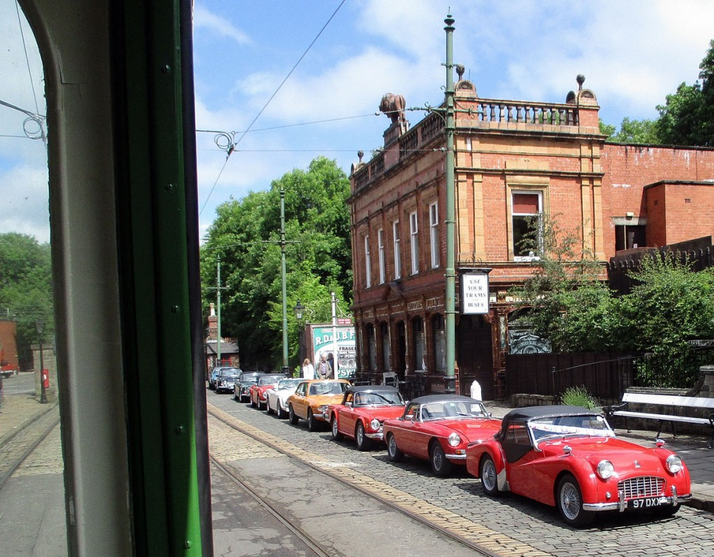 Cars from the Coventry TR Car Club are seen from 869 outside The Red Lion.