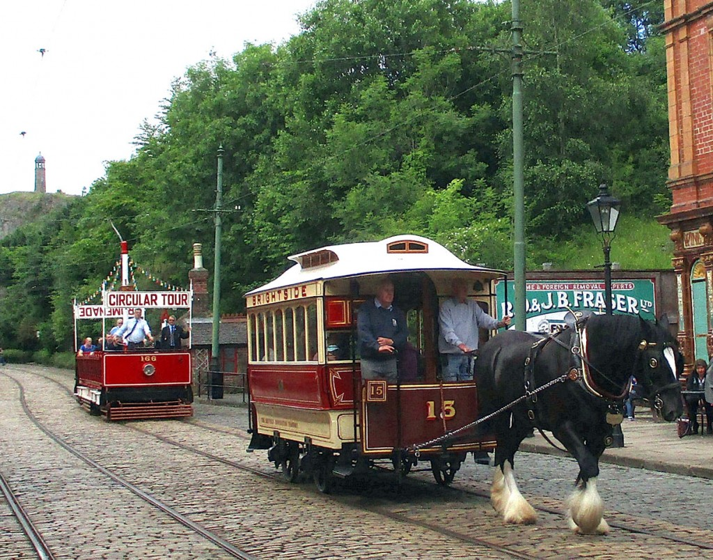 Sheffield 15 and Blackpool 166 complete this look at Crich on 26th June. (All Photographs by Hazel Quarmby)