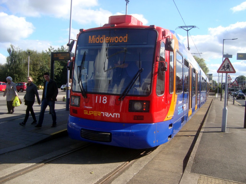 The slightly revised livery is seen here at Middlewood.