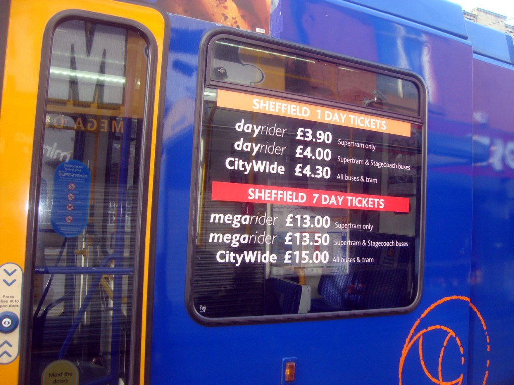 New window vinyls have also been applied to some of the trams listing various different ticketing options. (All Photographs by Stuart Cooke)