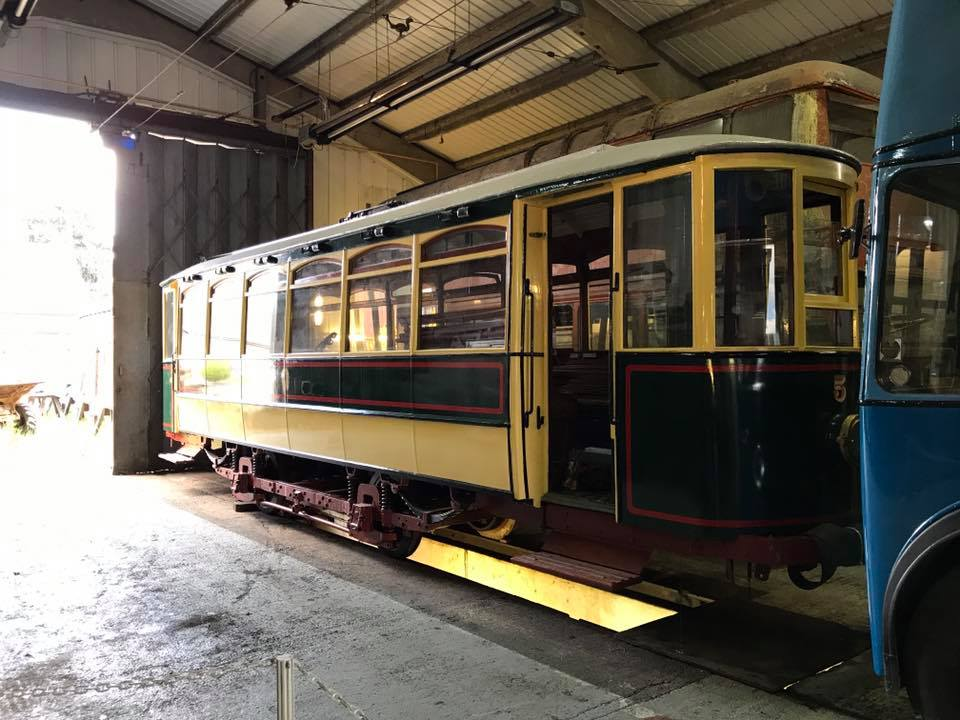 A recent view of Dudley & Stourbridge 5 in the tram depot at the BCLM following its return to the site, and looking much smarter than it did before it left! (Photo by Ryan Breen)