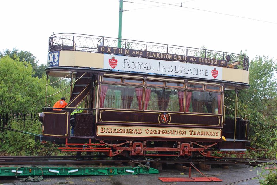 Birkenhead 20 is seen being loaded up onto the Scott's lorry at a very soggy Pacific Road on the morning of 27th July.