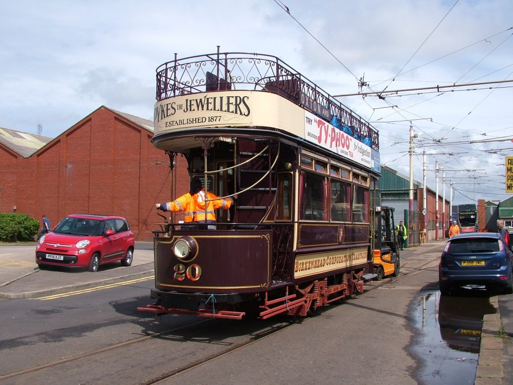 How good is this going to look on the promenade!? Birkenhead 20 poses on Hopton Road before being shunted inside for commissioning work to begin. (Photos by James Millington/Blackpool Heritage Tram Tours)