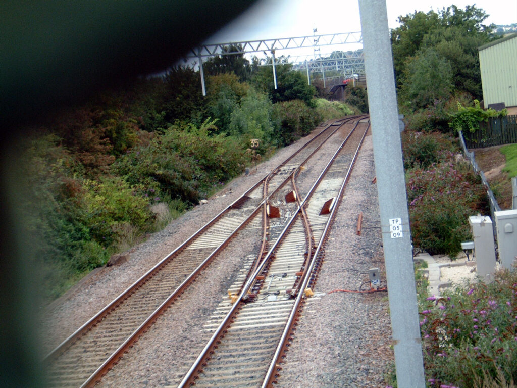 Crossover now in place to allow trams to return to Sheffield.