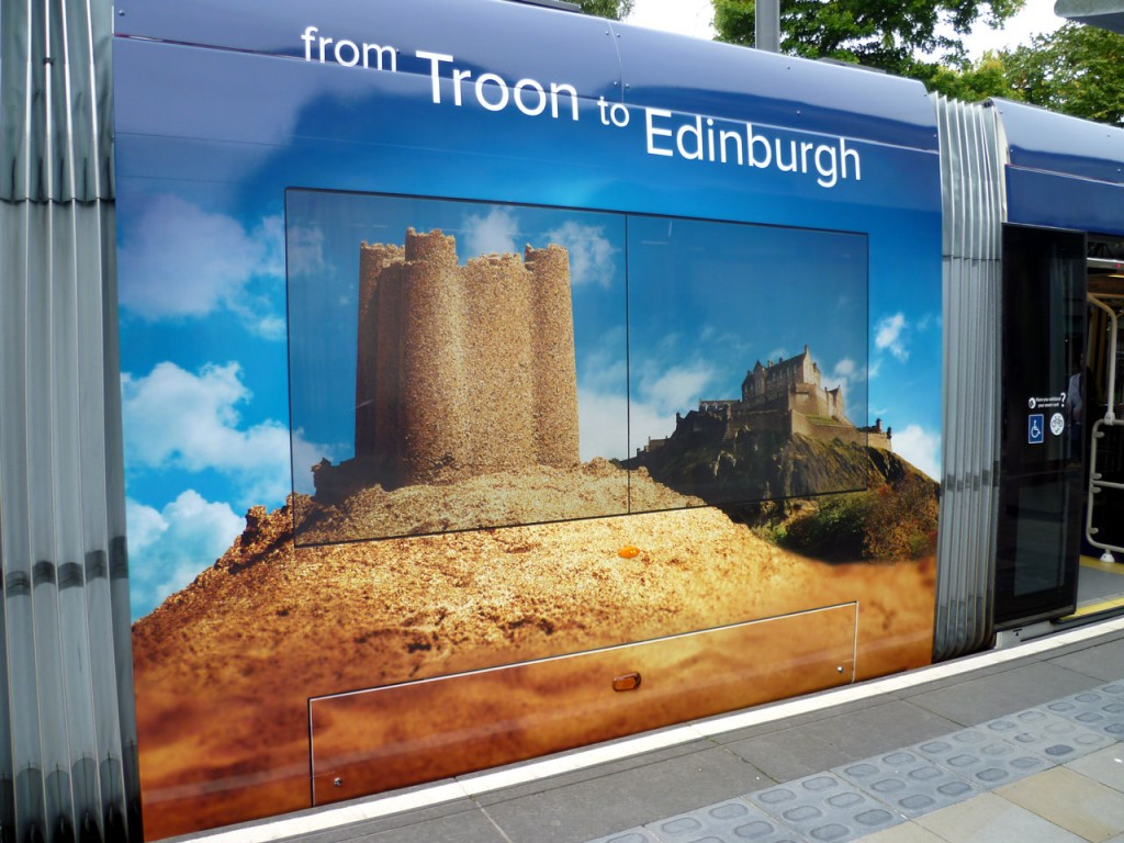Two castles from Troon to Edinburgh. (All Photographs by Roy Calderwood)