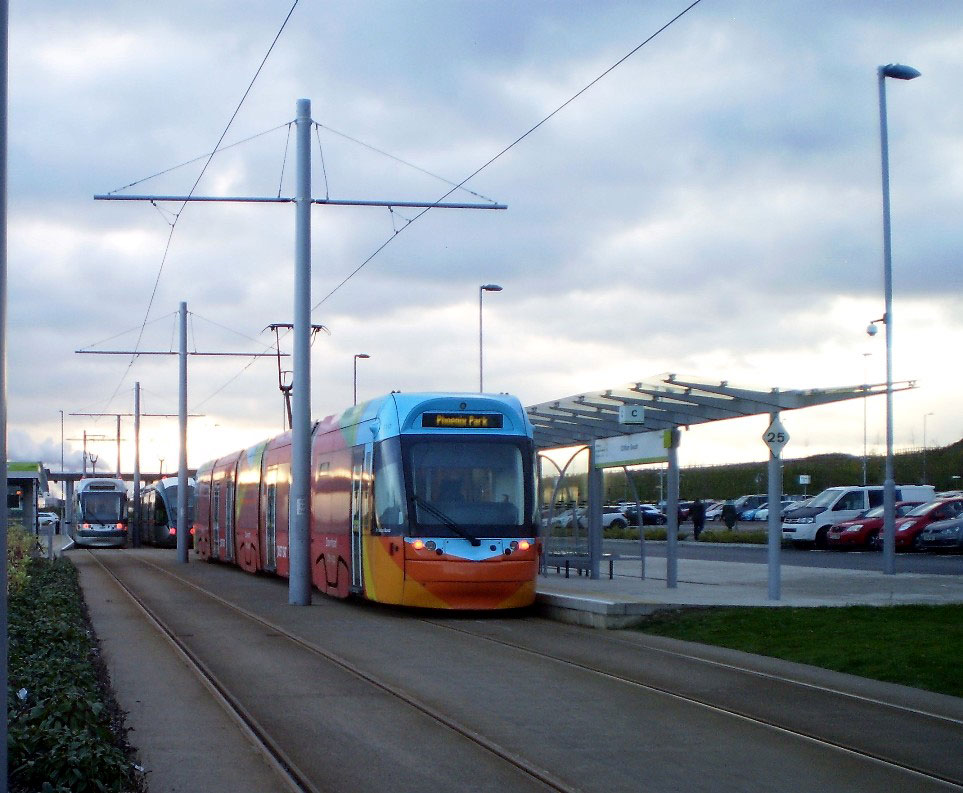 A third tram was also at Clifton South in the form of 210 which was standing in platform C.