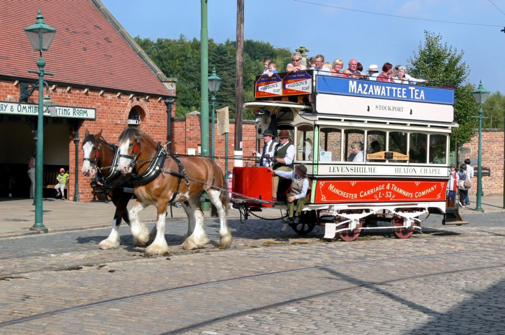 September 2010 and L53 was back at Beamish as it sets off along the town street. (Both Photographs by Tony Waddington)
