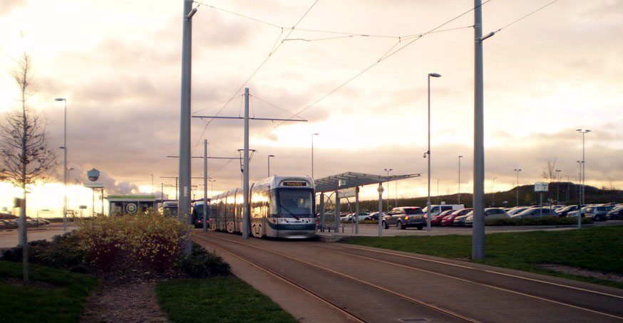 Another three tram line-up at Clifton South with 213 in front.