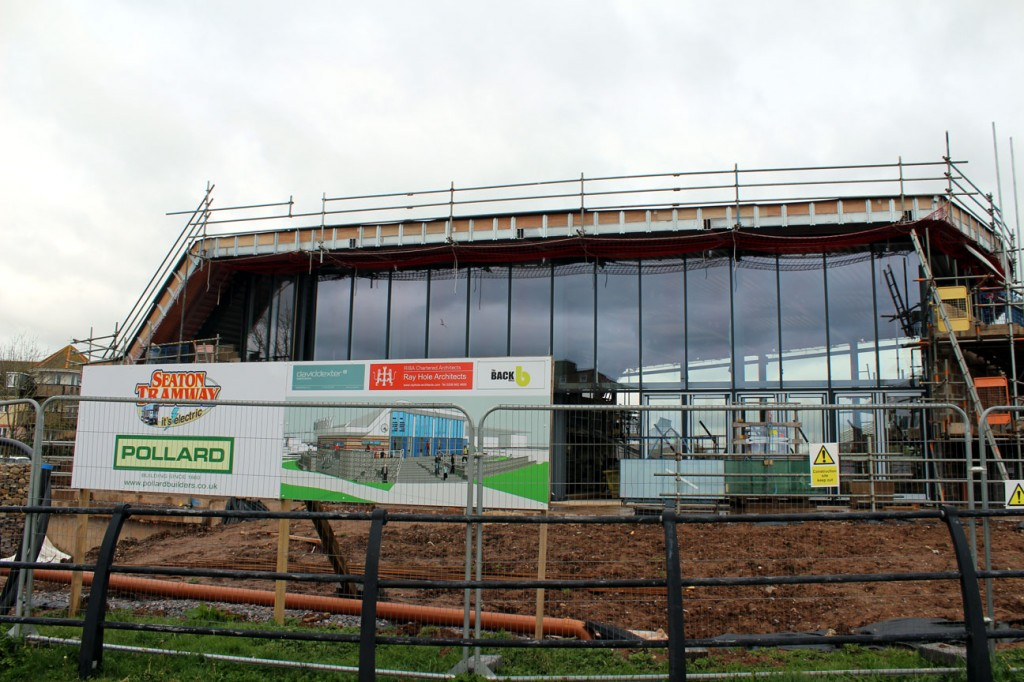 Another view of the front of the building along with the artists impression of how it will eventually look.