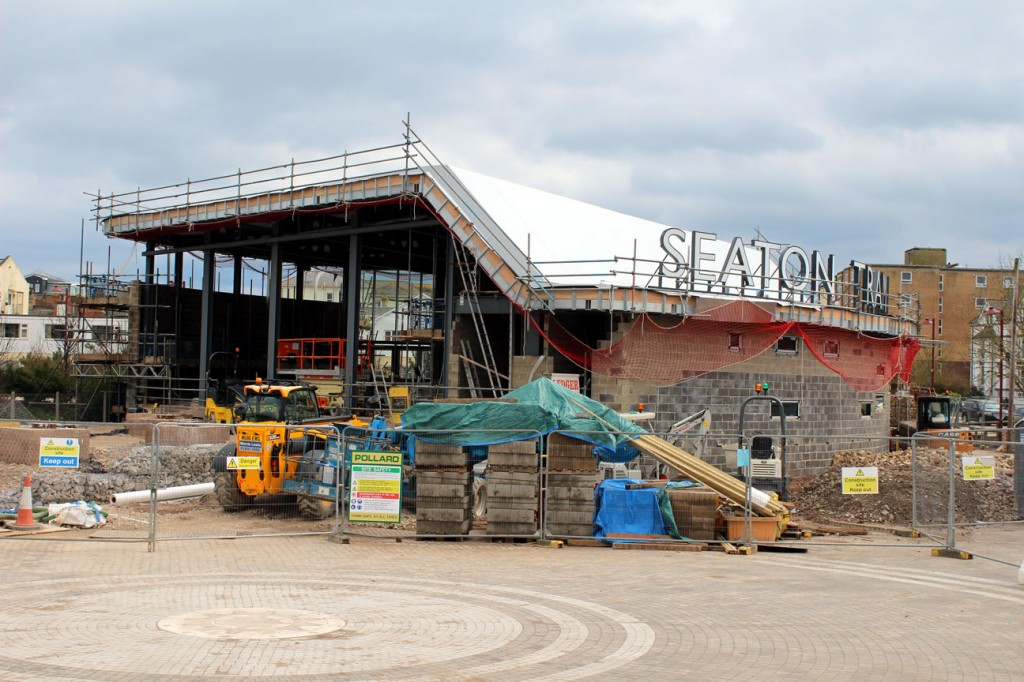 Facing Seaton Jurassic with fair bit of work still to be completed.
