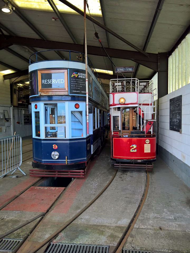Inside the depot where we see 9 and 2.