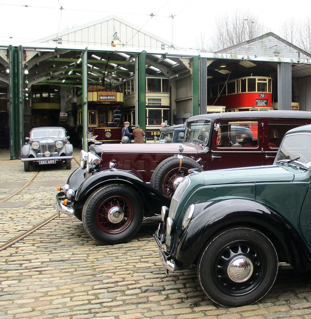 More period vehicles were displayed on the depot fan as seen here. The new look depots can be seen in the background along with various trams – both part of the operational and static fleets. (All Photographs by Hazel Quarmby, 1st April 2018)