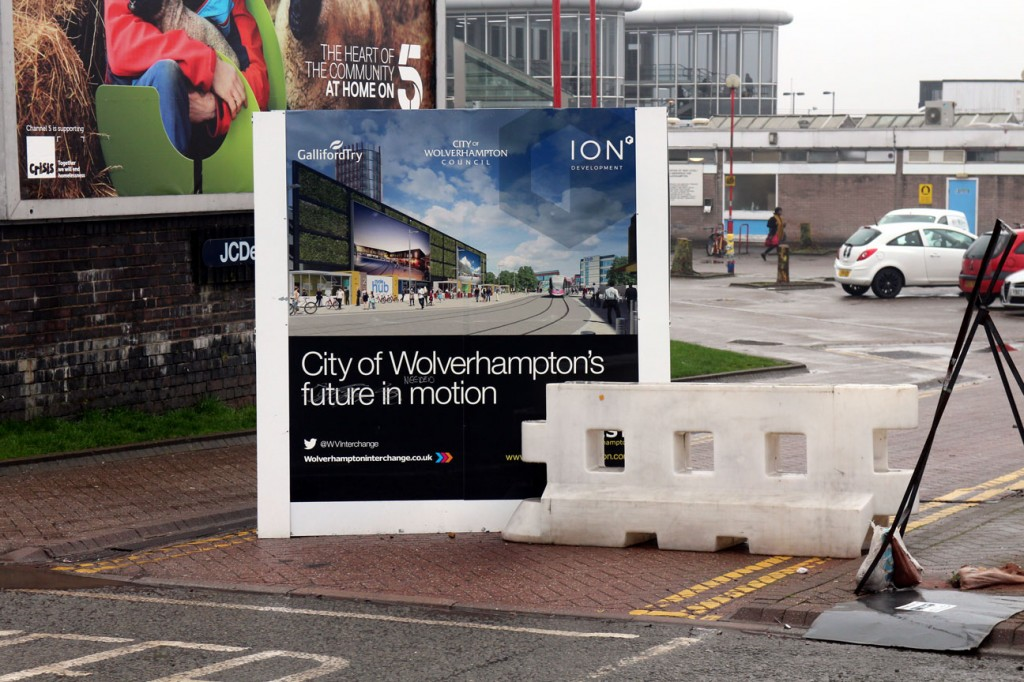 Publicity showing trams running to the station. (All Photographs by Andy Walters)