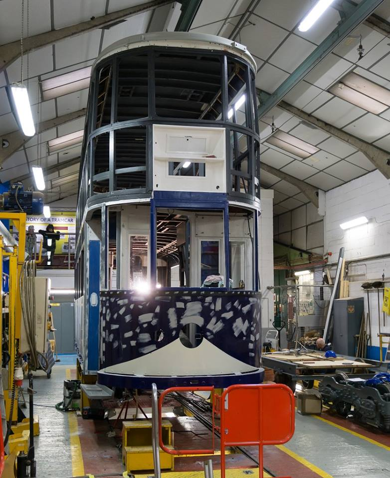 A view from the front of the workshop showing the latest progress on this end of LCC 1.