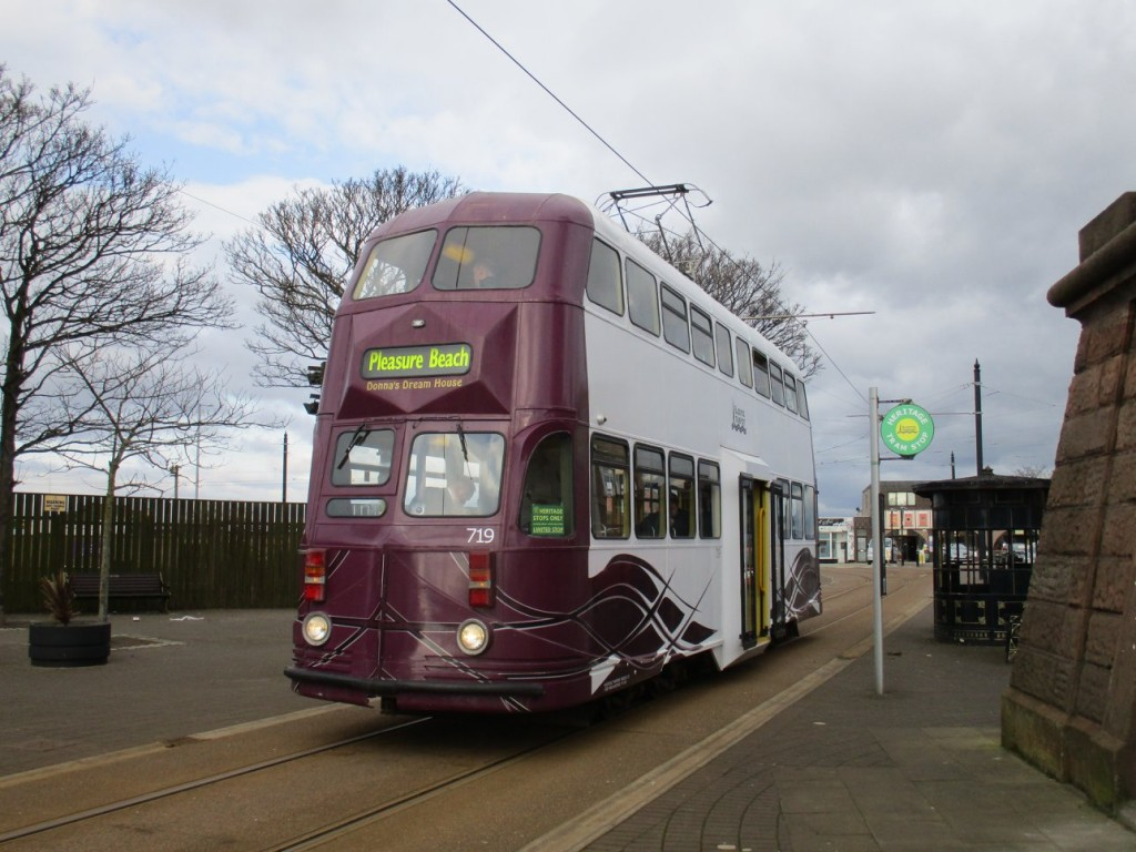 Modernised Balloon car 719's first outing of the year came on Saturday 31st March, when it was captured on Pharos Street in Fleetwood.