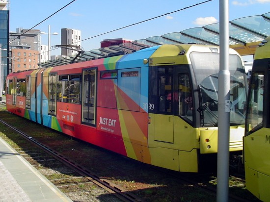 In Pictures New Just Eat Adverts On Metrolink British