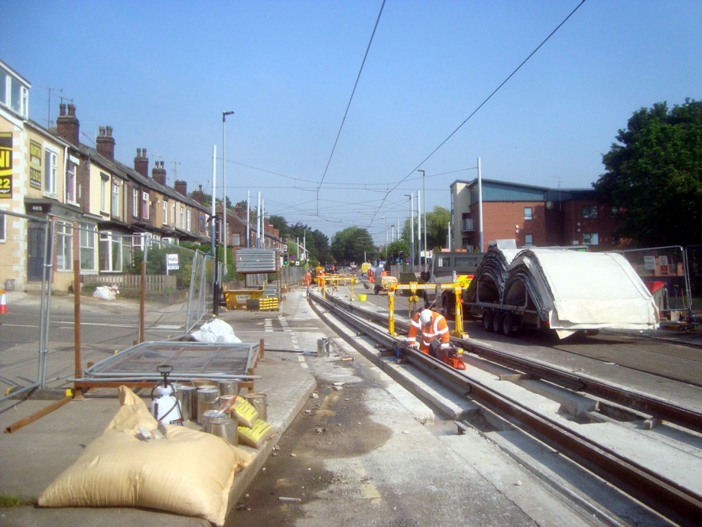 On Middlewood Road and good progress was already being made in the track replacement. This was the view on day two, Sunday 27th May.