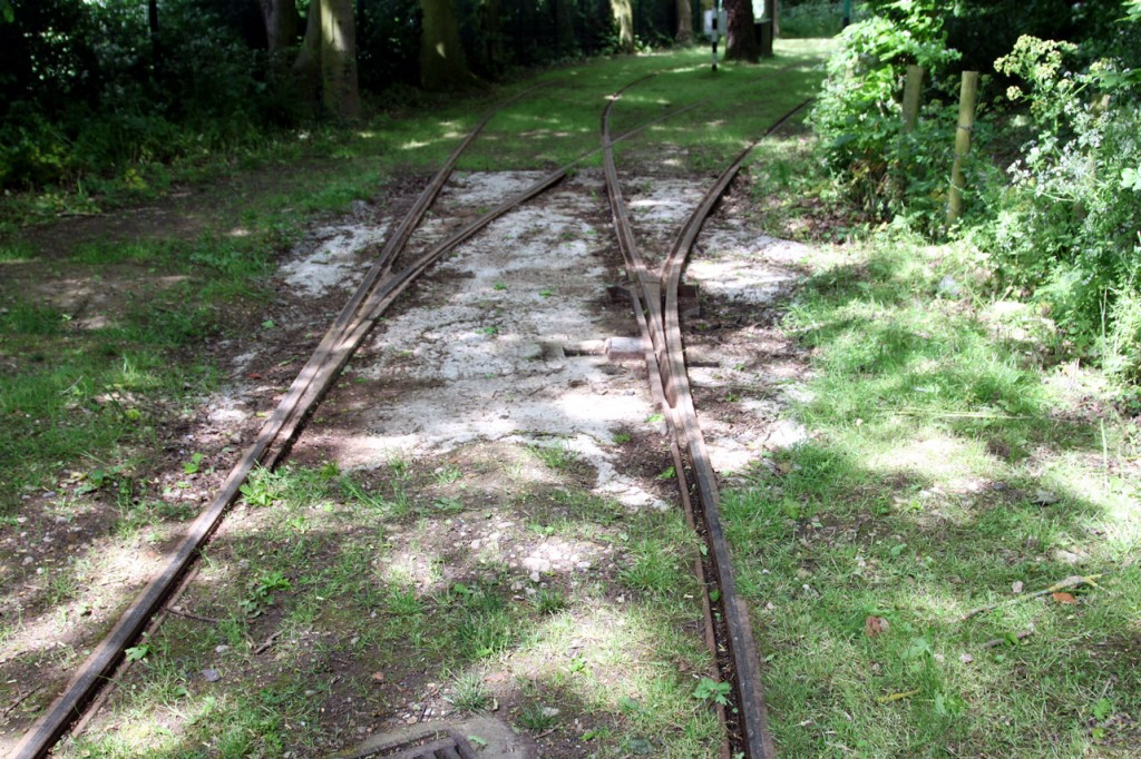 The realigned track is seen here.