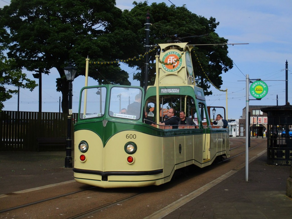 Welcome back! The sight of a Boat car at Fleetwood was greatly missed at the last Bank Holiday weekend, but 600 made its return on 26th May. Here it is shown on Pharos Street waiting to depart.