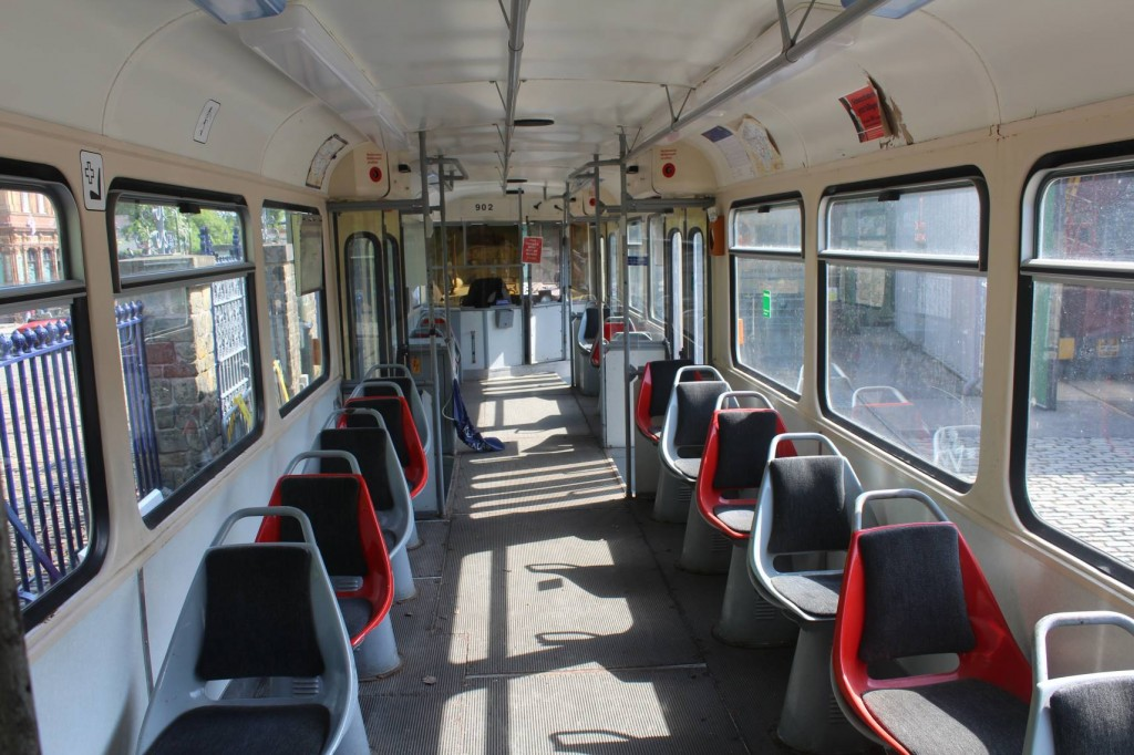 A look at the rather basic interior of the Halle car. (Photos x2 by Peter Whiteley)