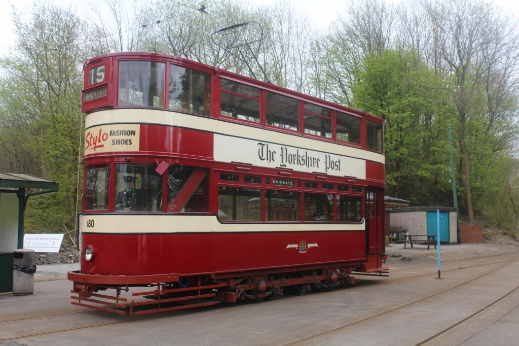 Leeds 180 is seen at Wakebridge on its first day in public service for several months after receiving a replacement resistance grid and a full re-wire over the winter period. (Photo by Peter Whiteley)