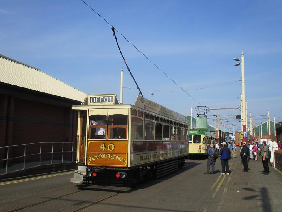 The end of the day with Box 40 parked behind 630 on Hopton Road as passengers leave both trams, marking the end of 630's operating loan period in Blackpool. (All photos by Rob Bray)