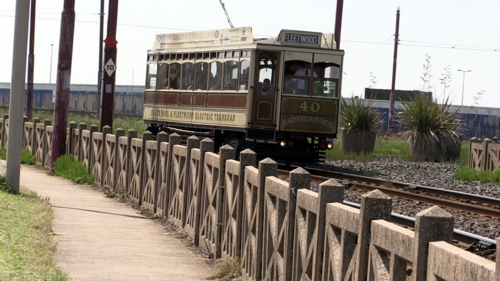 Over 100 years after its first ran through to Fleetwood, Box 40 passes Little Bispham with a journey to the northern terminus of the tramway.
