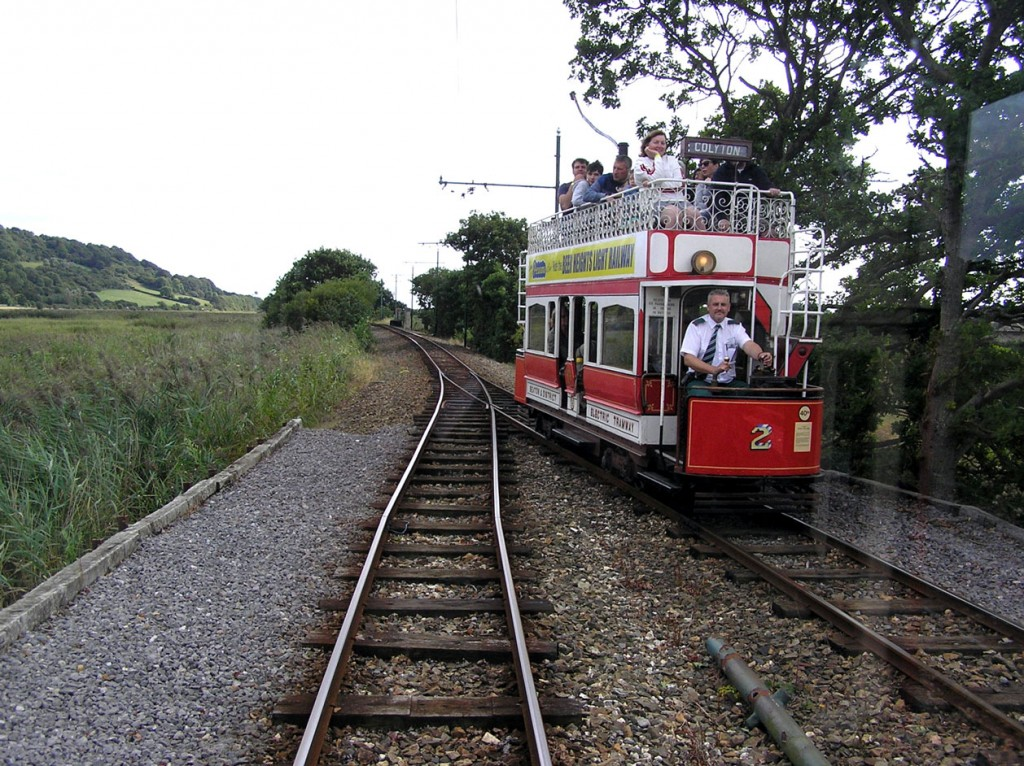 The lowest numbered tram in the fleet is 2. In this view we see it at Swans Nest loop.