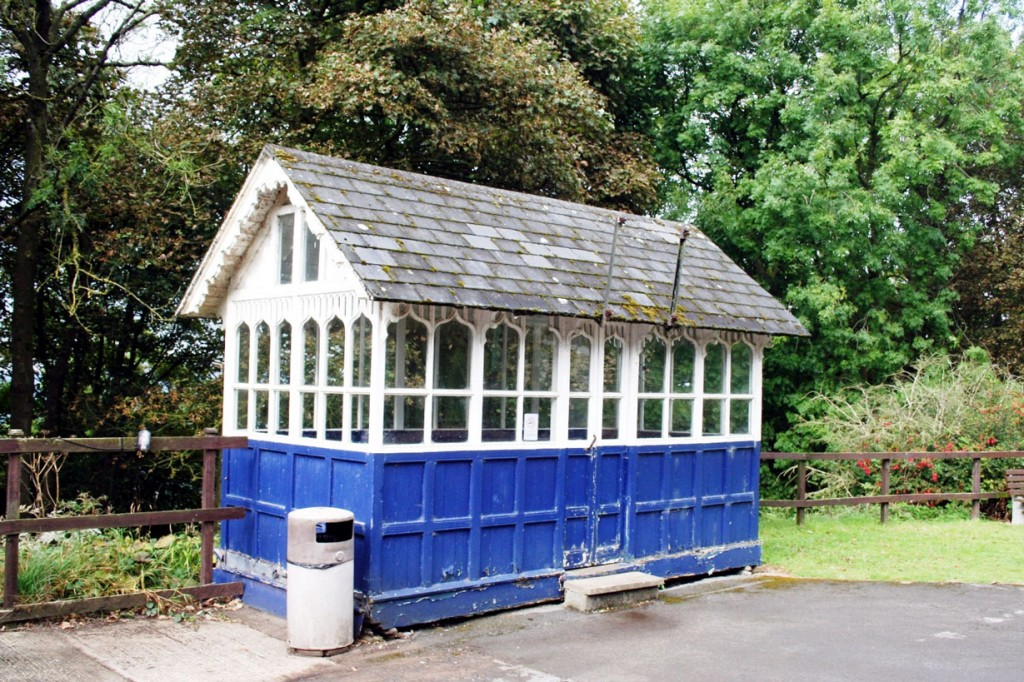 The old tram shelter is currently out of use.