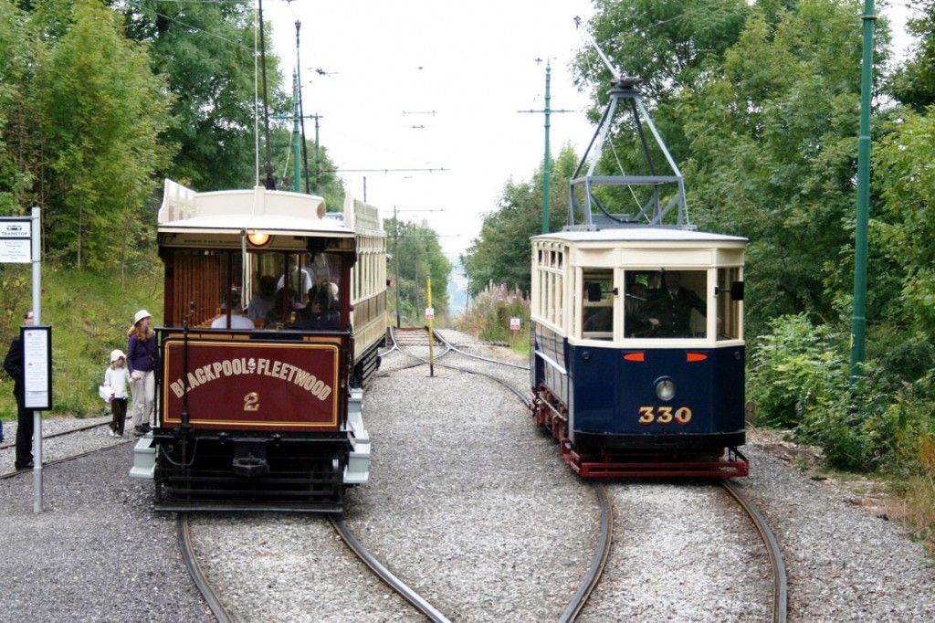 At Glory Mine terminus where 2 and Sheffield 330 are seen (as is Blackpool & Fleetwood 40).