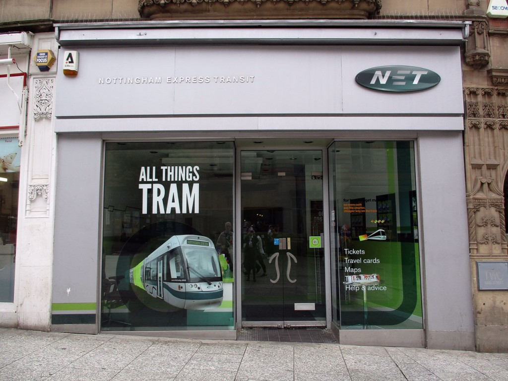 The Nottingham Express Transit shop.