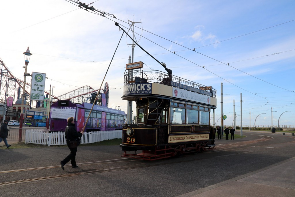 Here we see 20 being trollied as it arrives at Pleasure Beach. (All Photographs by Kevin James)