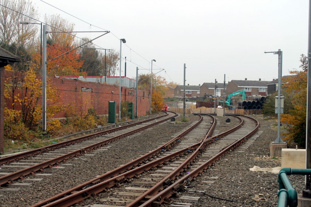 This is a view of the station yard at South Shields which will be the site of the new Metro Maintenance and Renewals Skills Centre. In the days that this line was part of the national British Rail network this was the site of South Shields station.