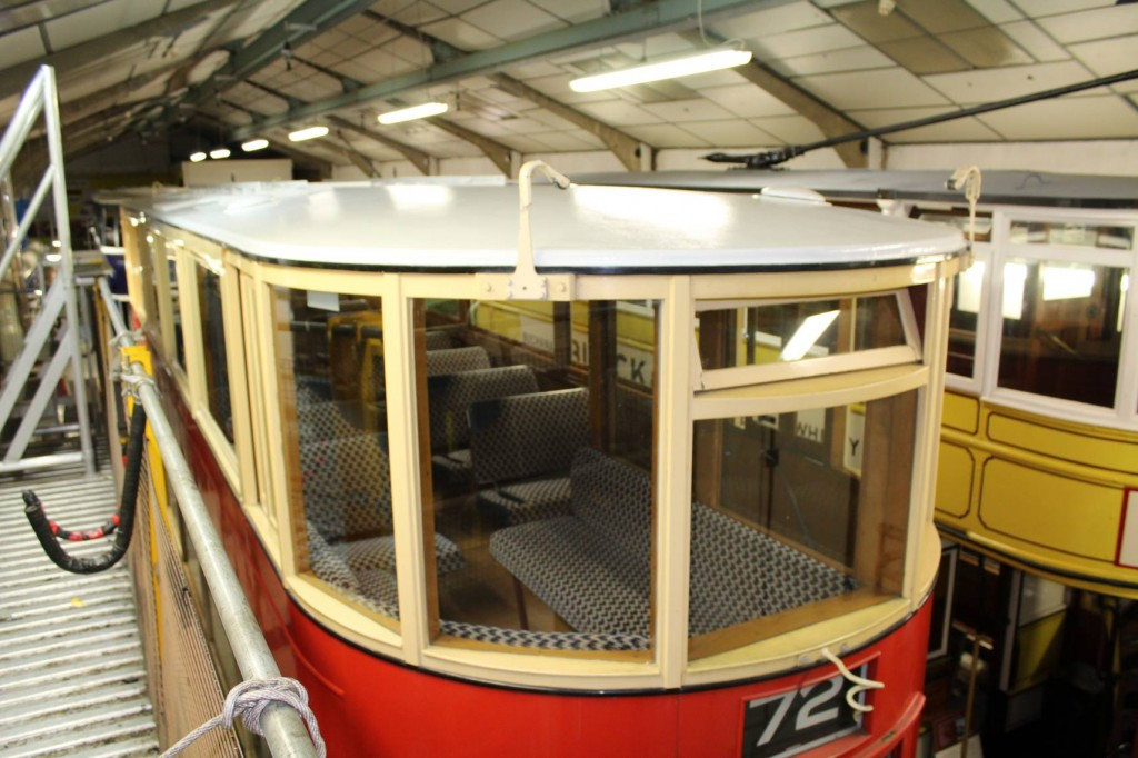 Tram roofs don't often feature on British Trams Online but here is a picture of one! The roof in question is of course that of 1622, newly painted in white. (Photos by Peter Whiteley)