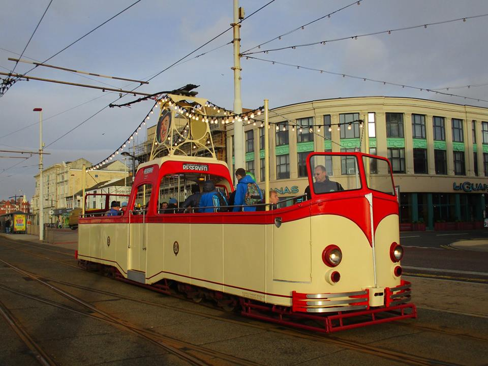 Boat 227 is back at North Pier with passengers leaving the tram, perhaps to warm up! (All photos by Rob Bray)